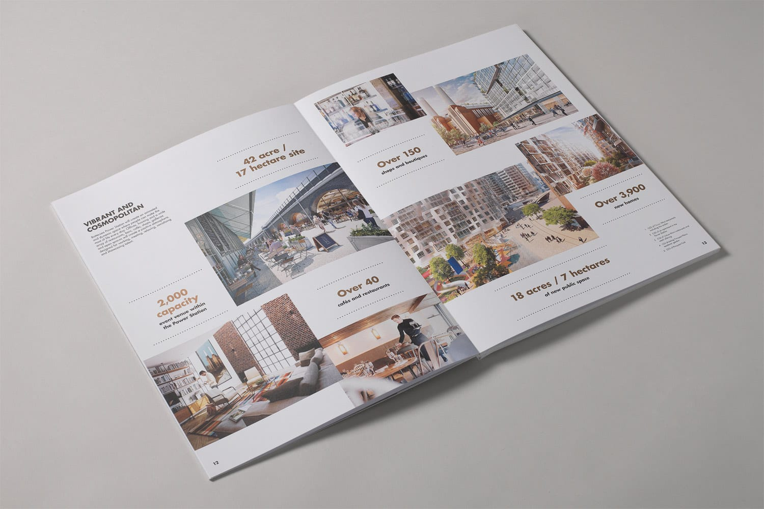 Property Branding for Battersea Power Station Work, Live, Shop, Brochure 10- Wordsearch