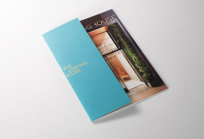 Property Branding for The Sorting House in New York, Brochure 2 - Wordsearch
