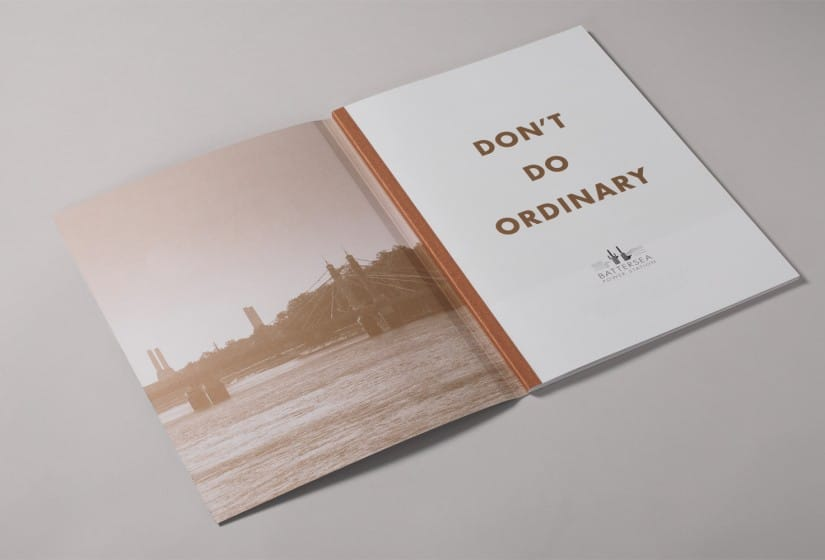 Property Branding for Battersea Power Station Work, Live, Shop, Brochure 3- Wordsearch