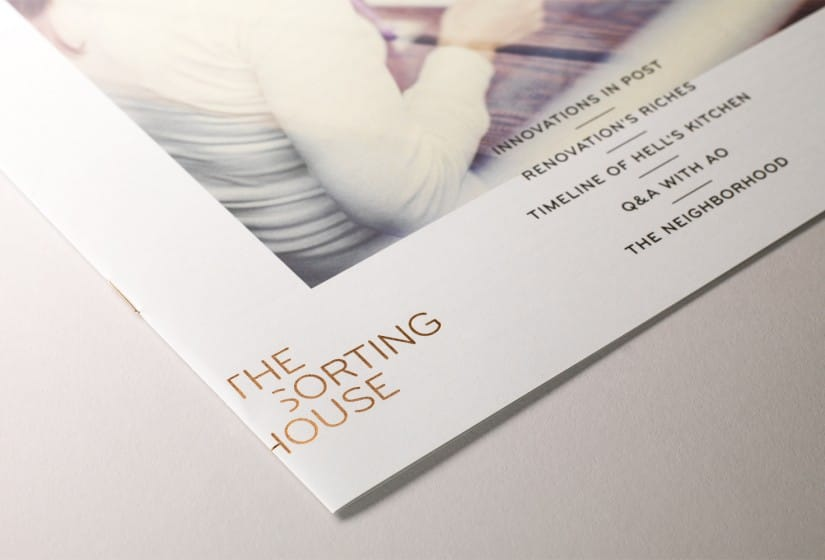 Property Branding for The Sorting House in New York, Brochure 5 - Wordsearch