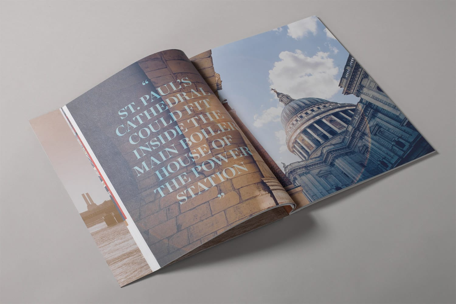 Property Branding for Battersea Power Station Work, Live, Shop, Brochure 4- Wordsearch