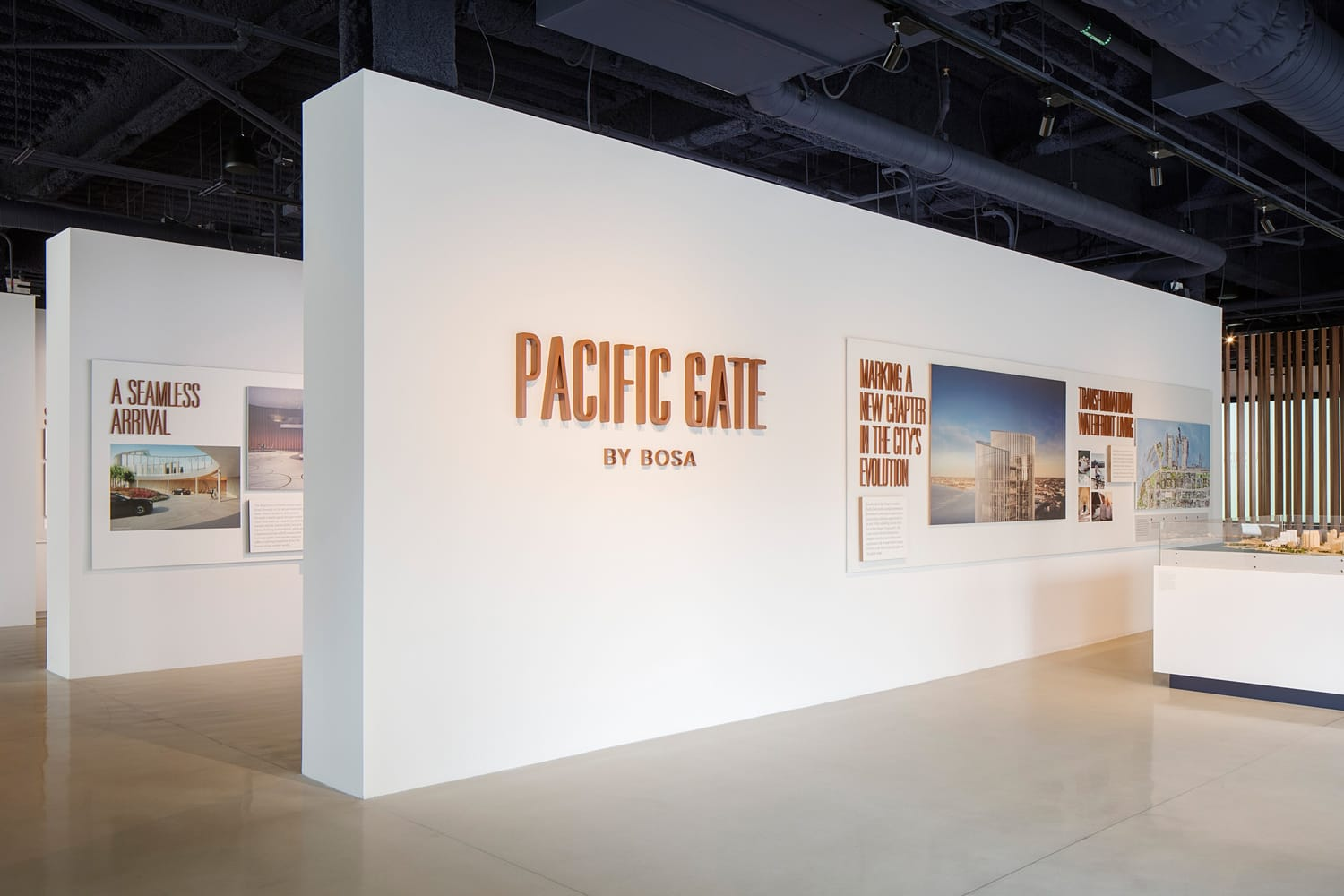 Property Branding for Pacific Gate in San Diego, Sales Suite 2 - Wordsearch