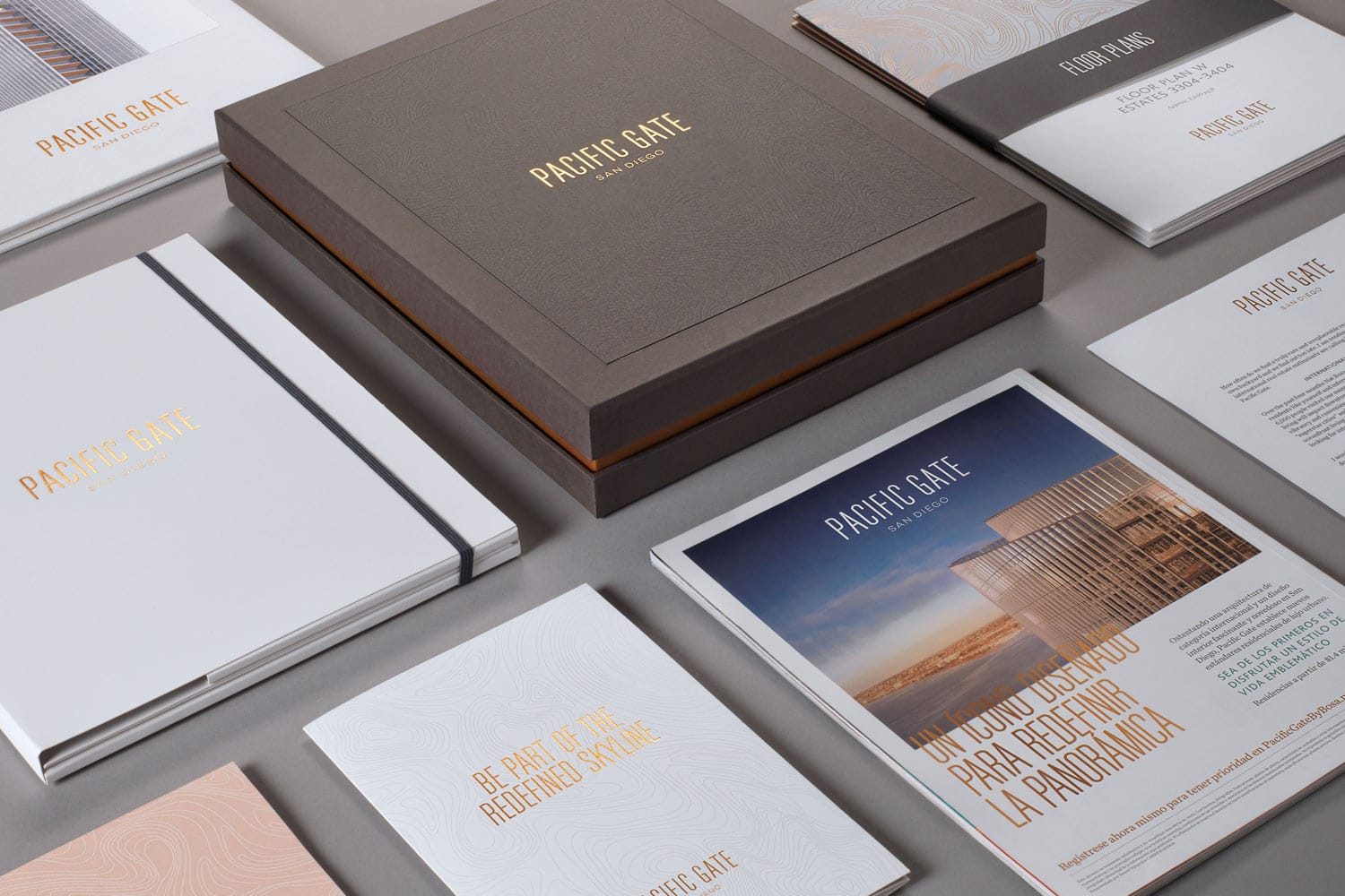 Property Branding for Pacific Gate in San Diego, Brochure 1 - Wordsearch