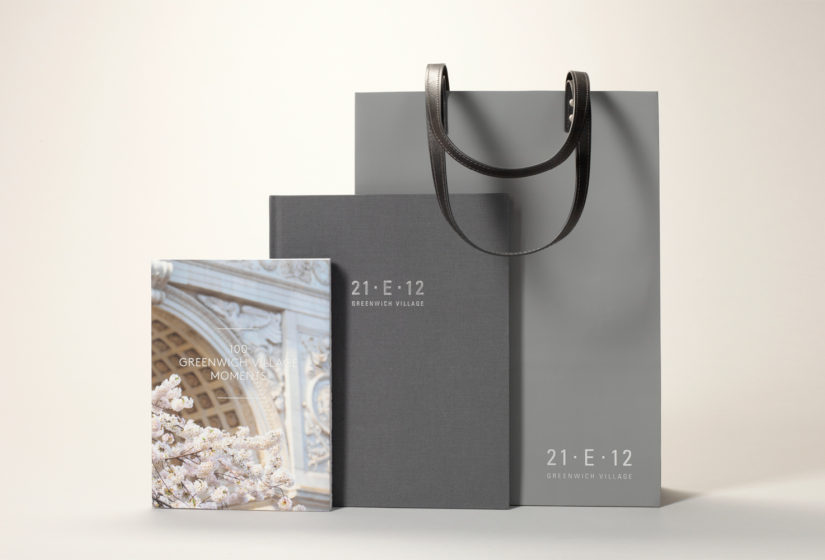 Property branding for 21 East 12, Bags - Wordsearch