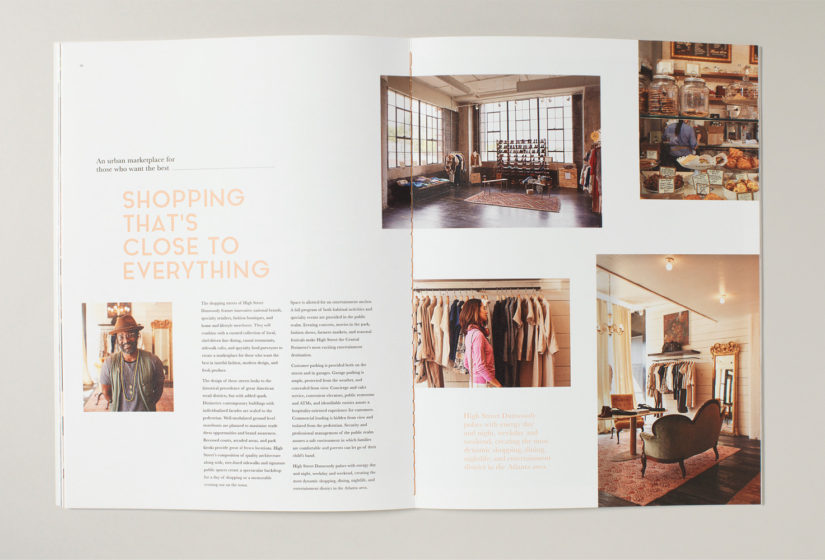 Property branding for High Street Atlanta, Brochure 5 - Wordsearch