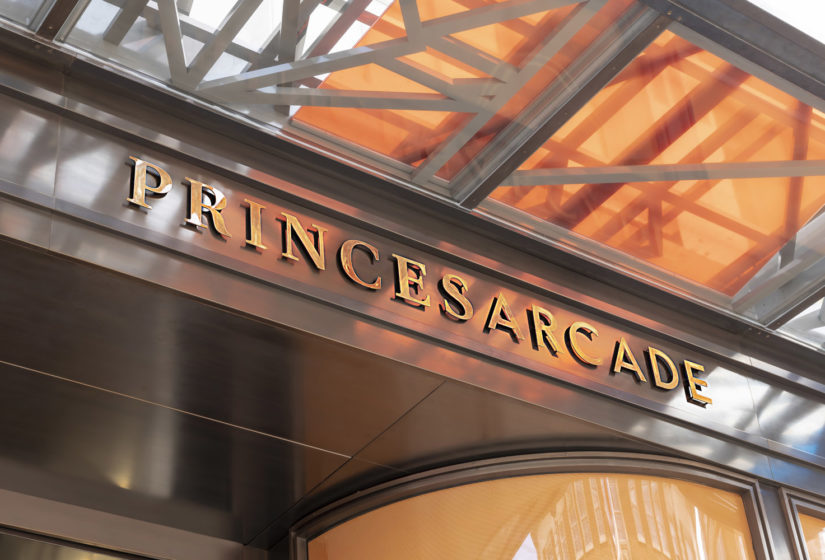Real estate branding for Princes Arcade 3