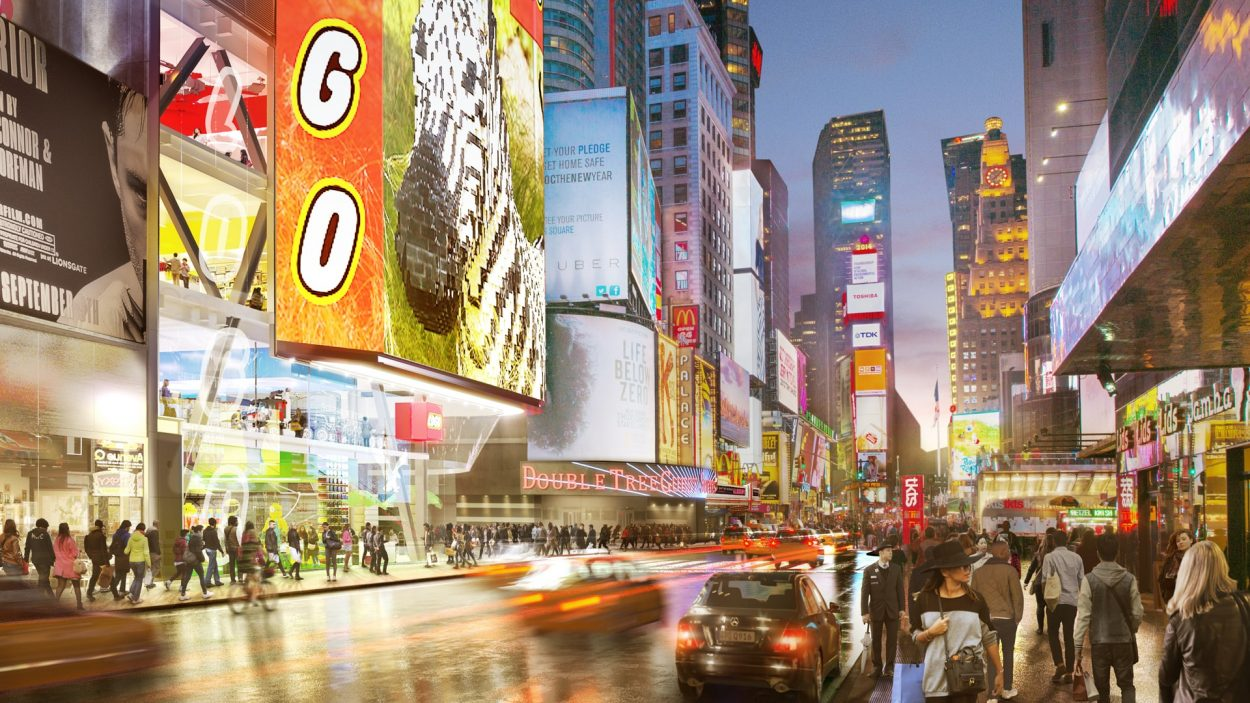 real estate marketing for 20 Times Square new work - rendering
