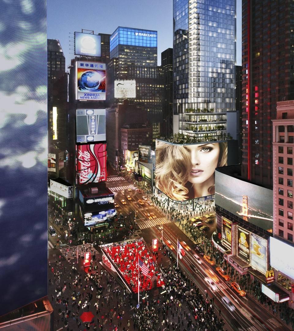 real estate branding for 20 Times Square new york -rendering 2