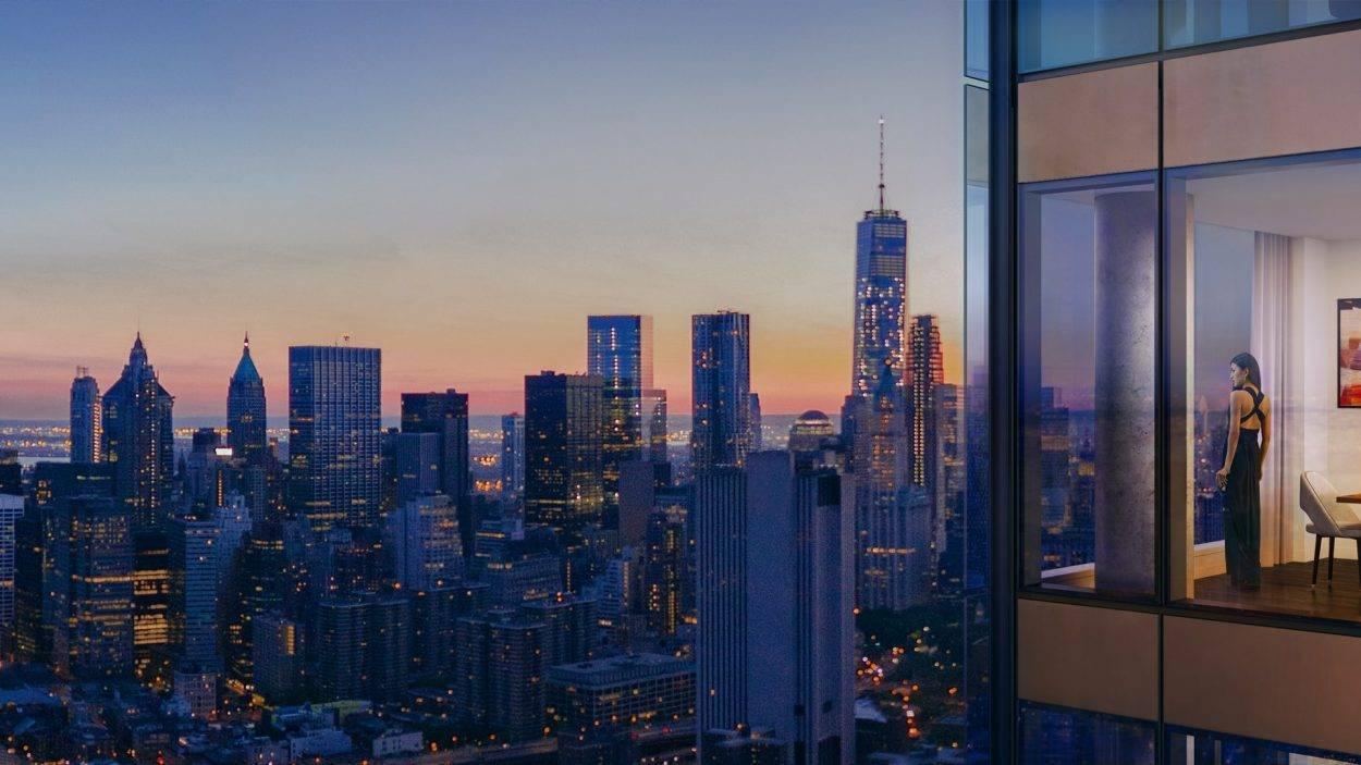 real estate branding for one Manhattan square New York - rendering