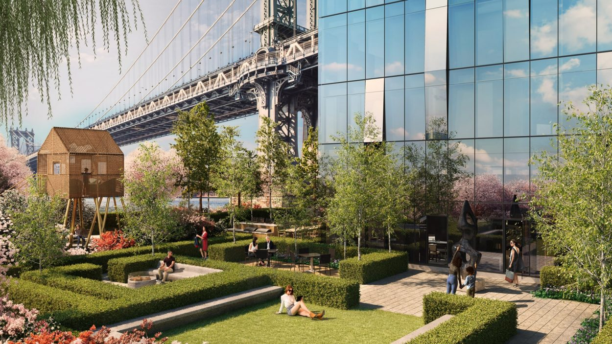 real estate branding for one Manhattan square New York - rendering 2