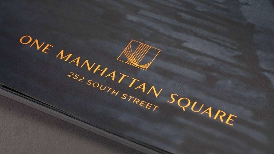 real estate branding for one Manhattan square New York - brochure