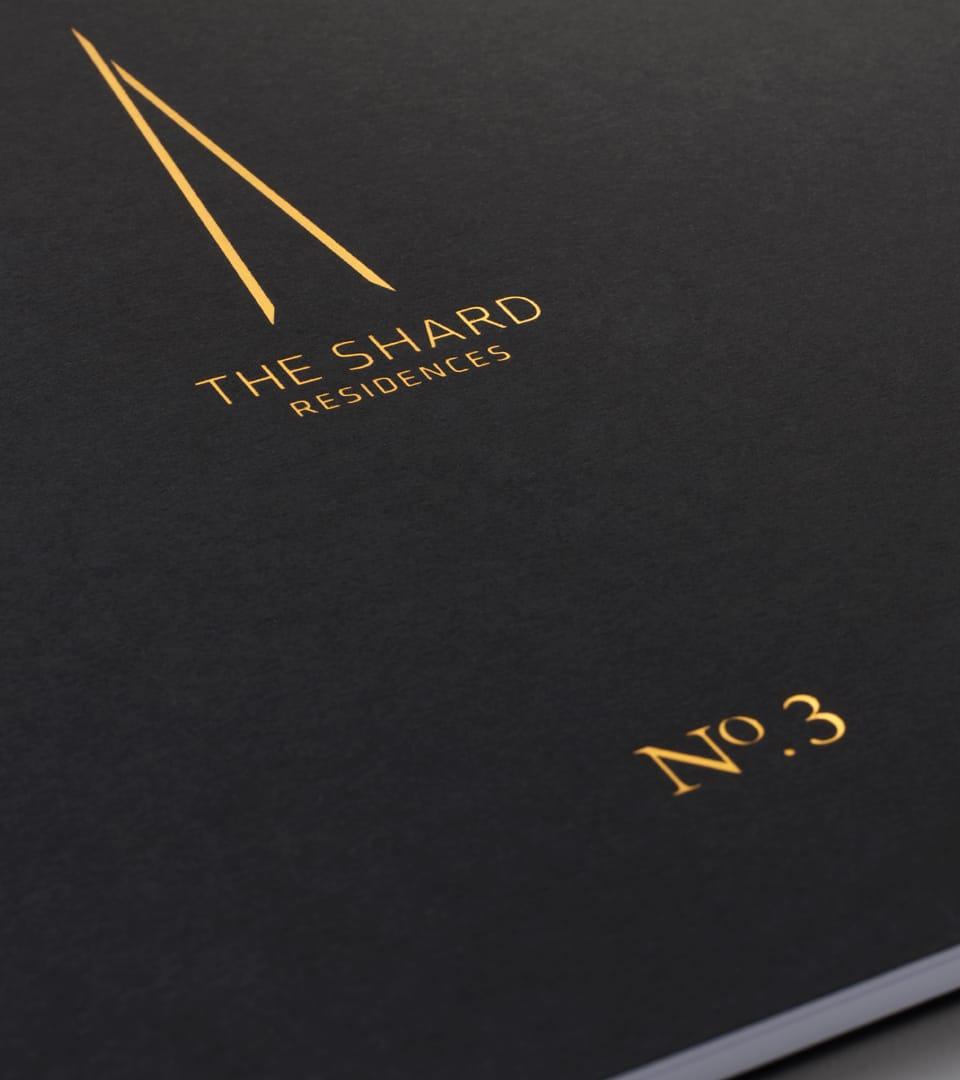 branding for the shard london - brochure cover