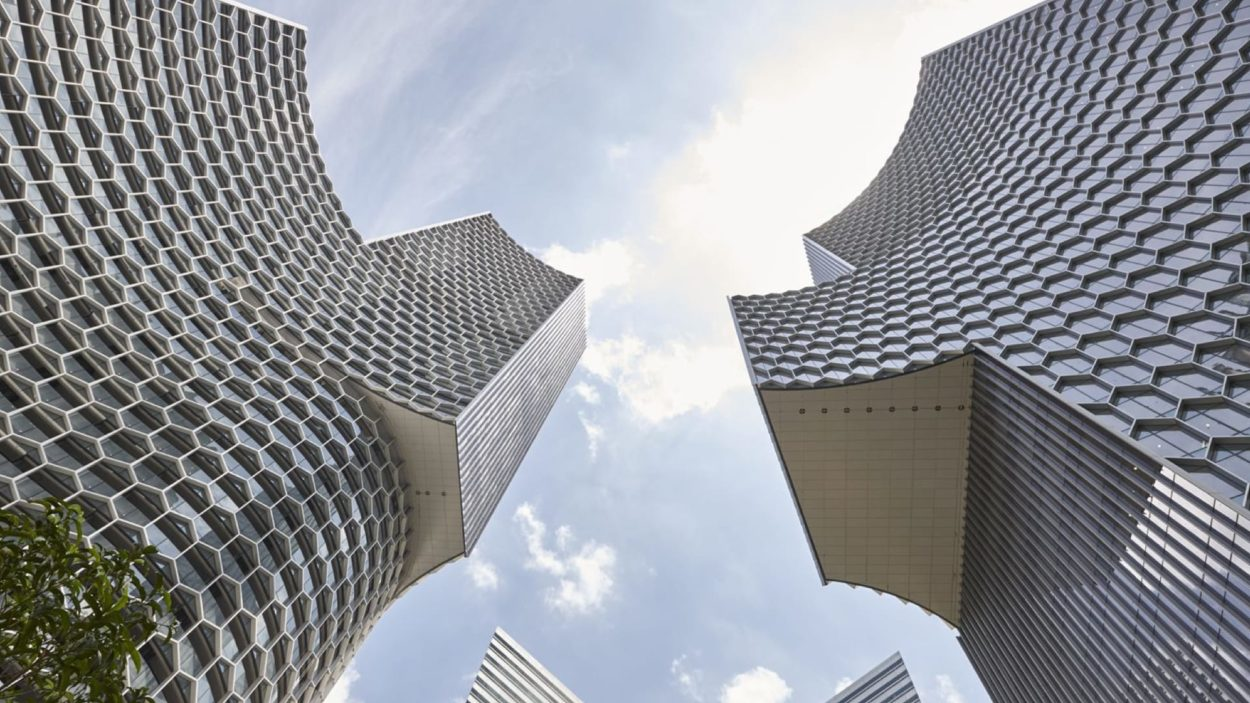 Duo Tower Singapore Branding - rendering