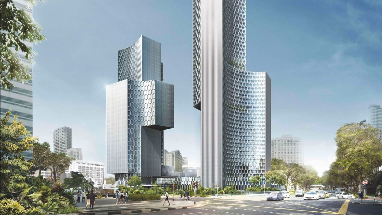 Duo Tower Singapore Branding - rendering 2