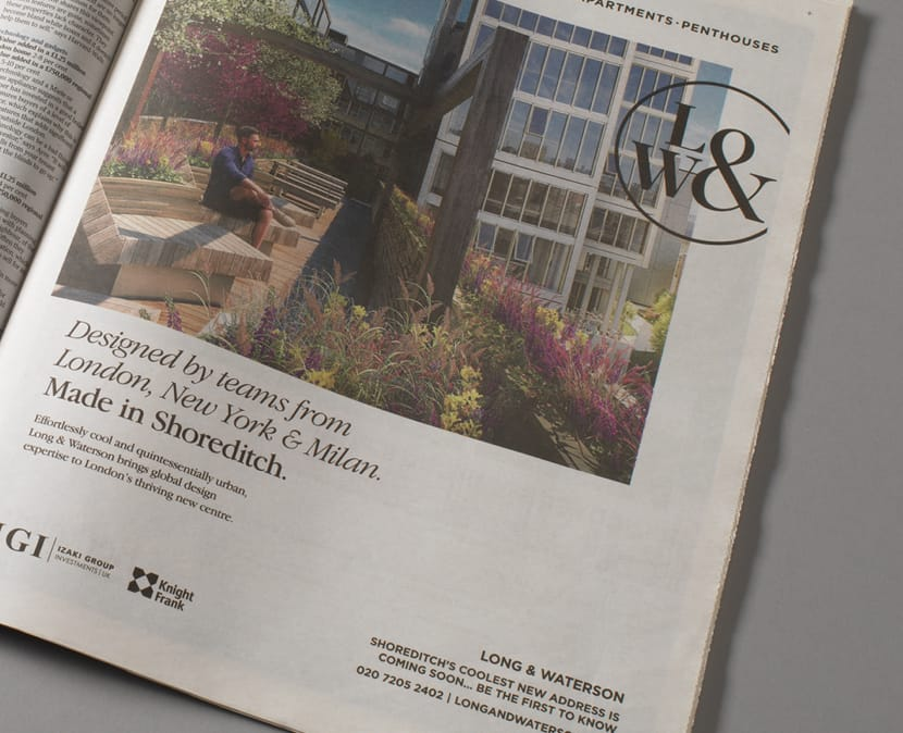 Property Marketing Agency | Wordsearch | Long & Waterson Advertisement