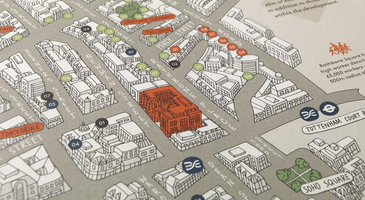 property marketing for rathbone square london - map 3