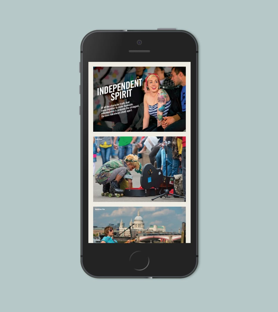 property branding for 240 blackfriars london - website