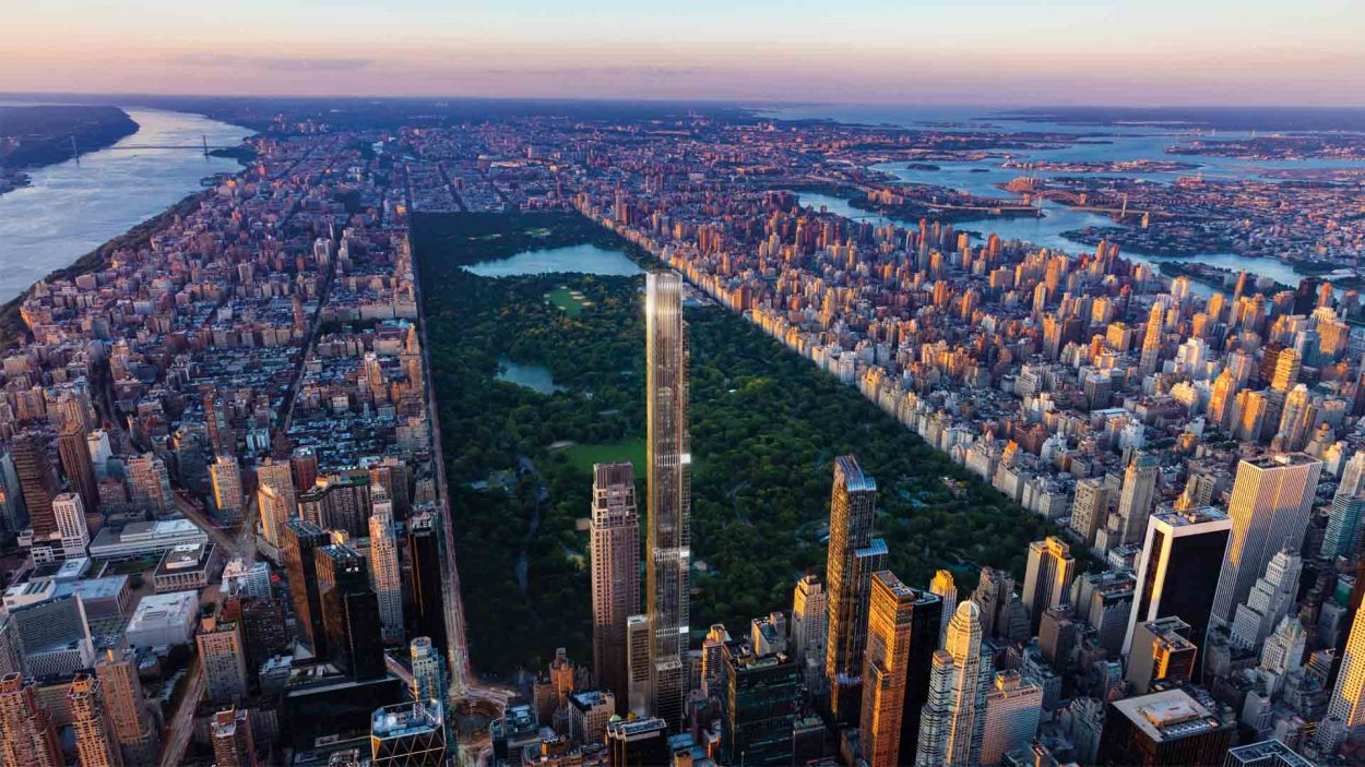 real estate marketing for central park tower - new york