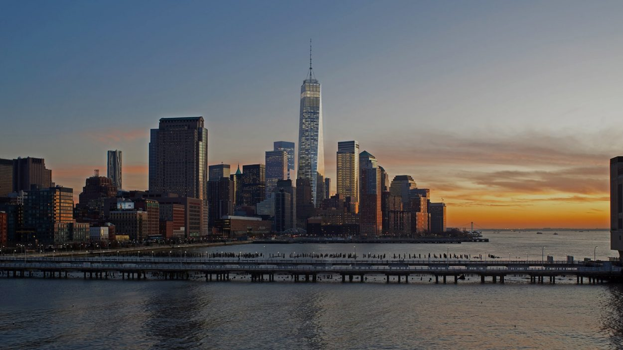 real estate branding for one world trade center New York - rendering