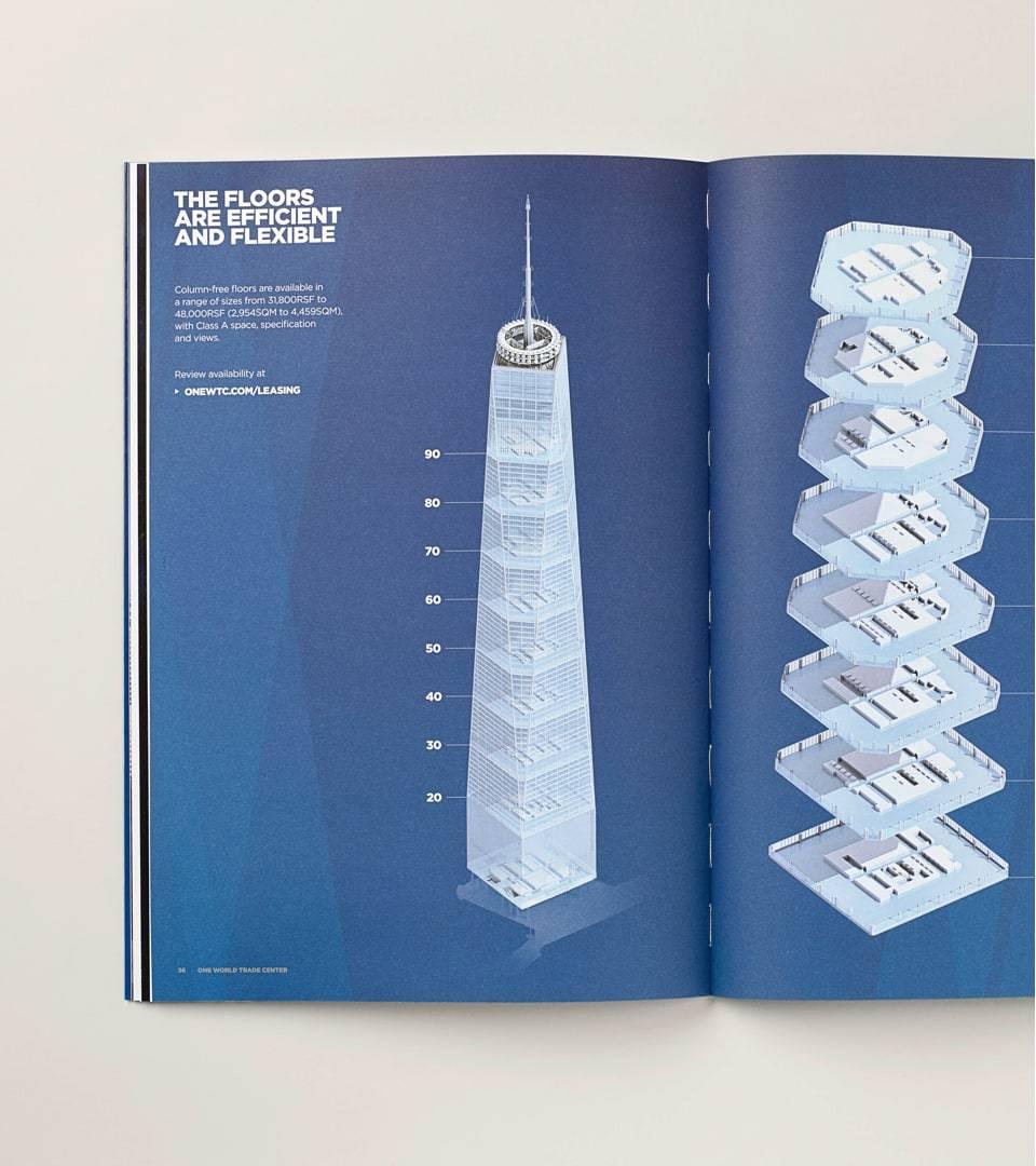 real estate branding for one world trade center New York - brochure 3