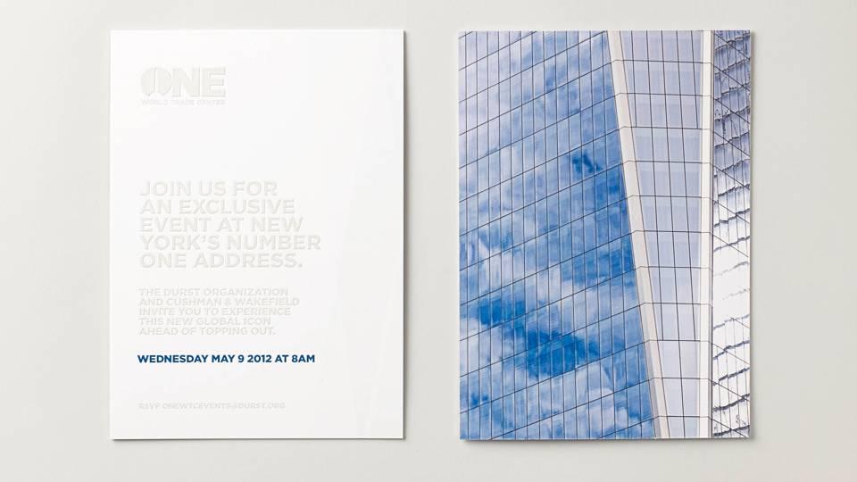 real estate branding for one world trade center New York - brochure