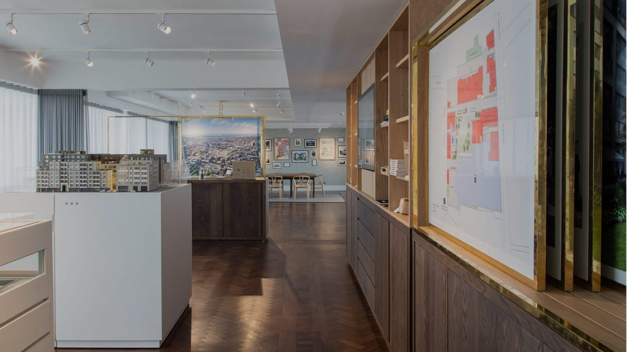 property marketing for rathbone square London -marketing suite
