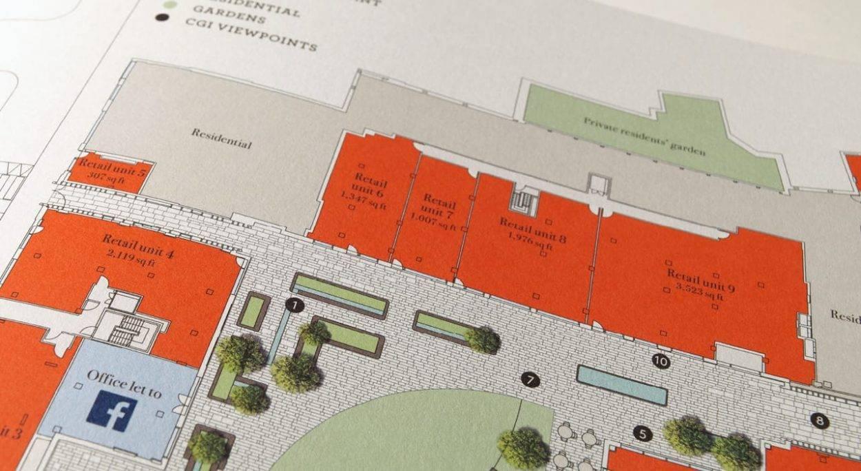property marketing for rathbone square london - floor plan