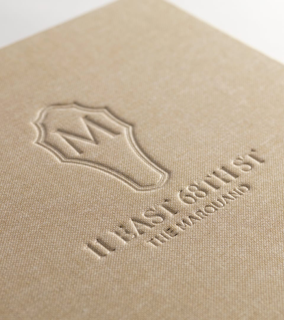real estate branding for the marquand - brochure