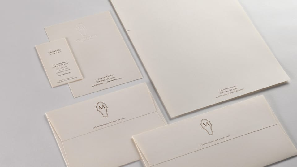 real estate branding for the marquand - stationery