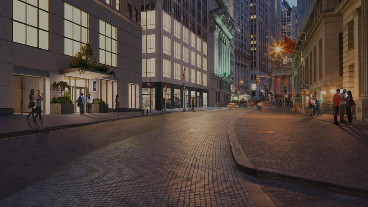 reat estate branding for 30 broad new york - rendering 2