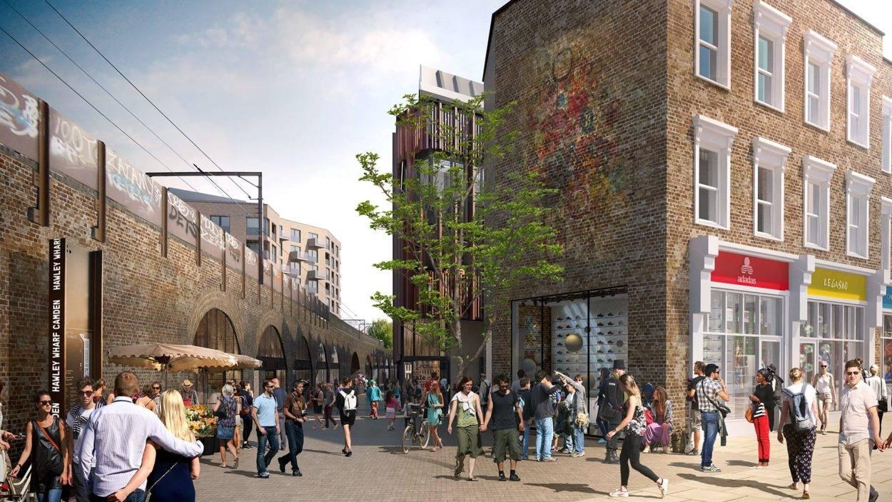 property marketing for hawley wharf camden - rendering 3