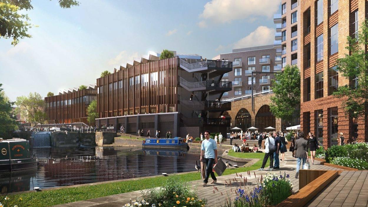 property marketing for hawley wharf camden - rendering 5