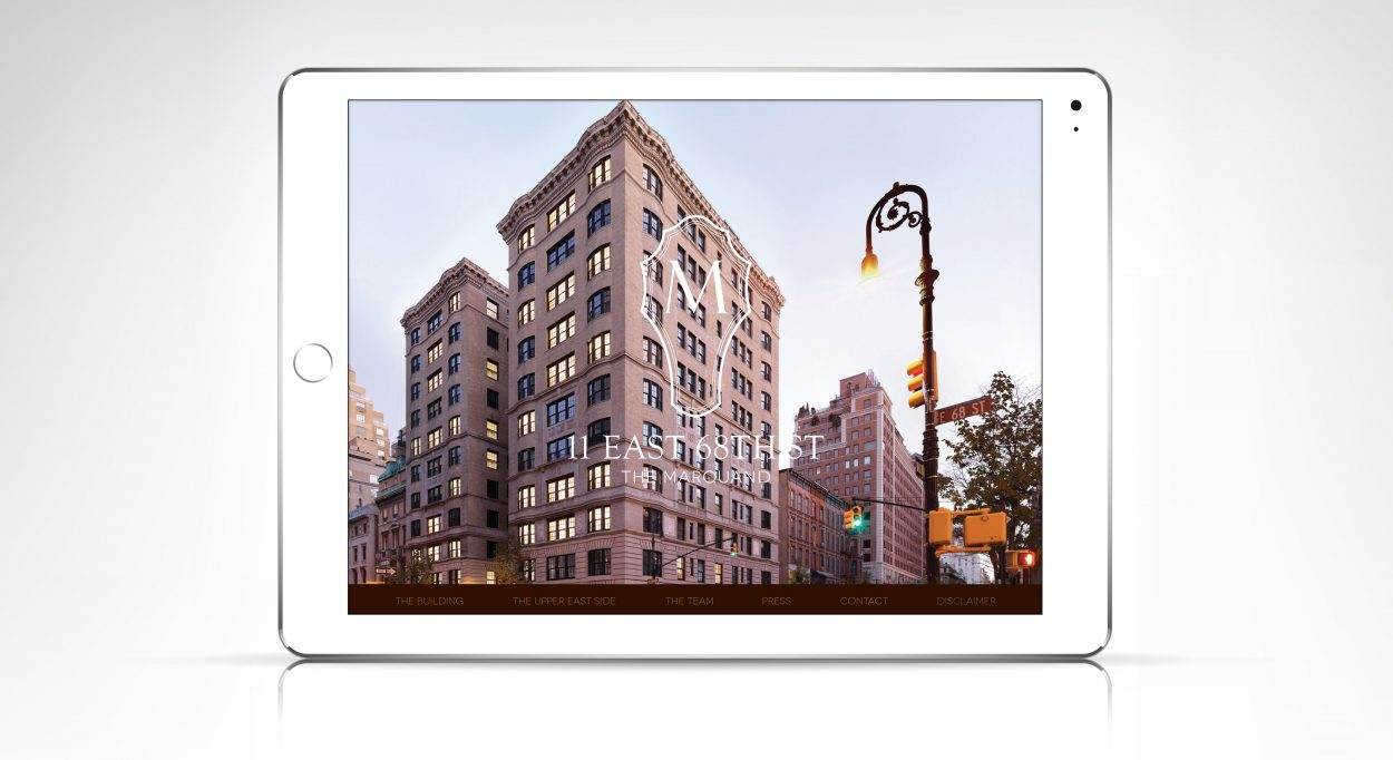 real estate marketing for the Marquand New York - website