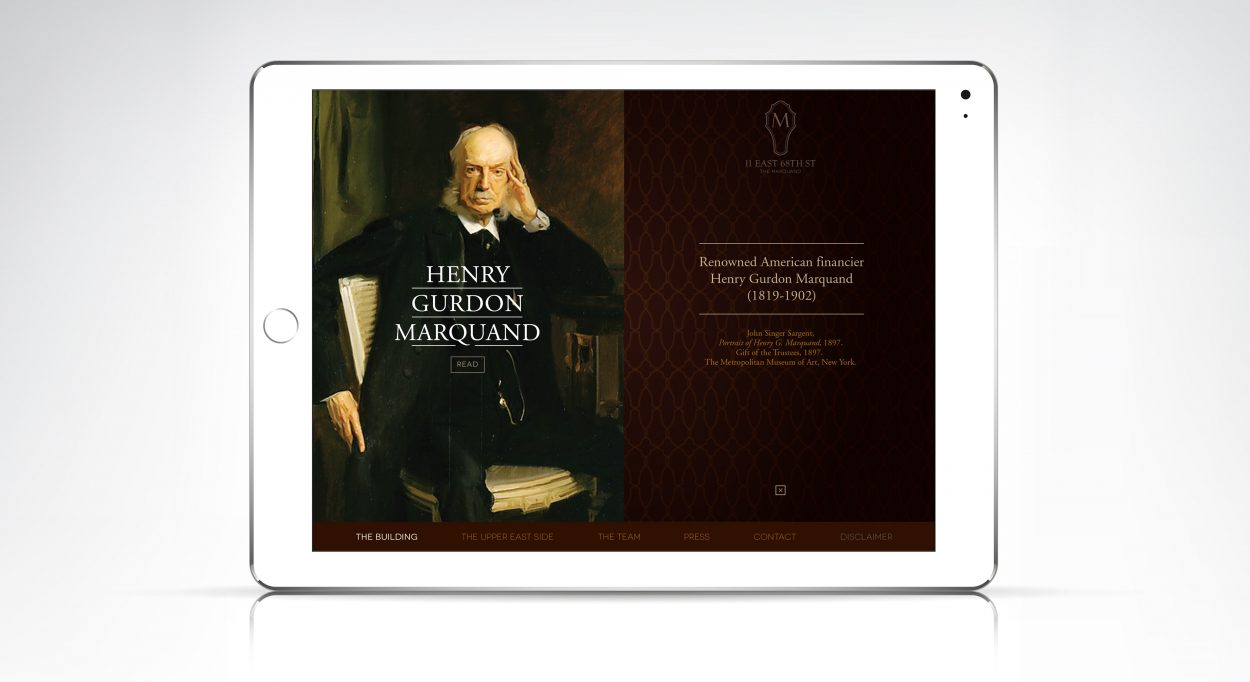 real estate marketing for the Marquand New York - website 3
