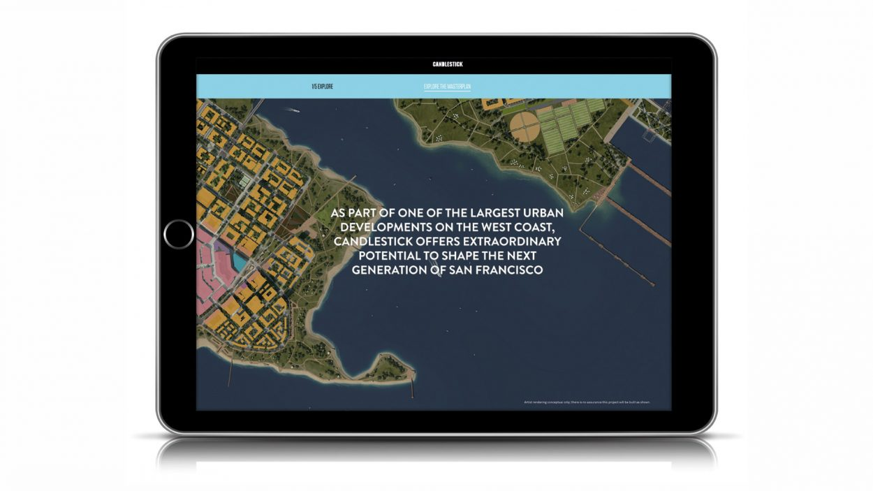 Real Estate Branding for Candlestick - San Francisco - ipad