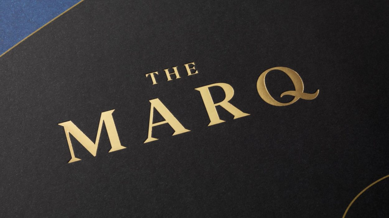 property branding for the marq | wordsearch london