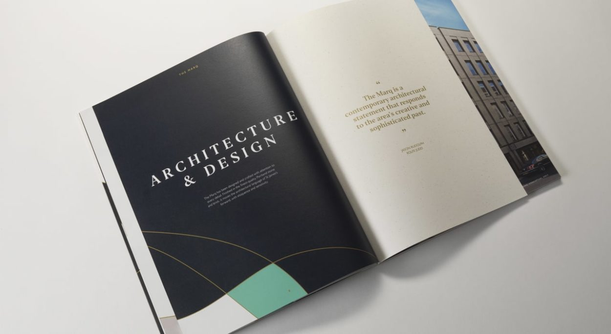 property marketing for the marq london | brochure 2