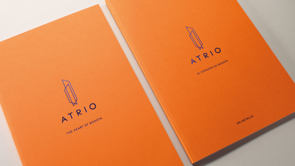 brochures for atrio, bogota | wordsearch real estate marketing